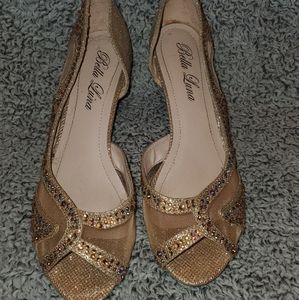 Wedge Gold formal shoes Size 9
